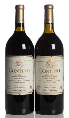 Dos botellas Magnum Contino, Gran Reserva de 1994.