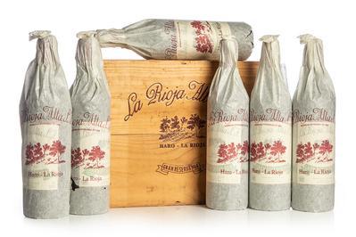 Seis botellas de La Rioja Alta S.A., Gran reserva 904, cosecha 1994.