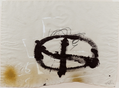 """Cruz marrón"", 1985. Antoni Tapies Puig"