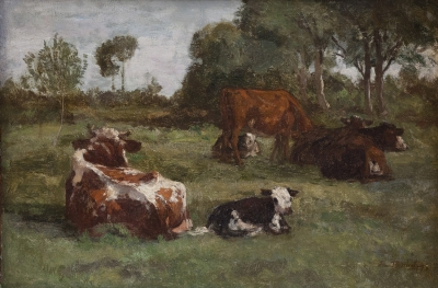 """""""Le pâturage"""". Eugène Boudin"""