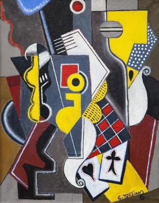 """""""Le damier rouge"""", 1998. GEORGES TERZIAN"""