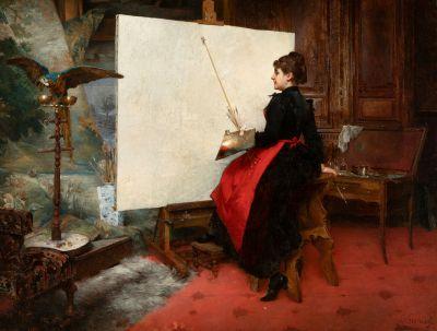 ERNEST ÉMILE LEMENOREL (Francia, activo entre 1880-1920).