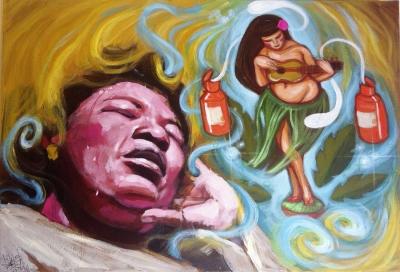 """""""Ensoñación violenta azul"""",2011. LANGEHELDT, Ana"""
