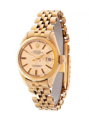 Reloj ROLEX Oyster Perpetual Datejust para señora,  En oro amarillo de 18 kts.