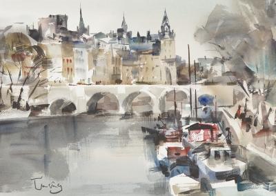 """""""Pont Neuf, París"""". CRUAÑAS FAGES, Josep"""