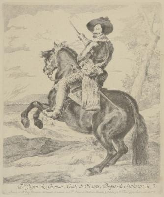 """El Conde Duque de Olivares a caballo"" RODRÍGUEZ DE SIL"