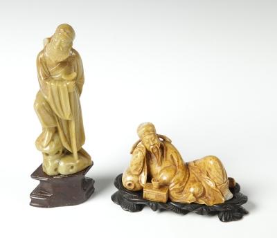 Pareja de figuras de inmortales; China, principios del siglo XX.