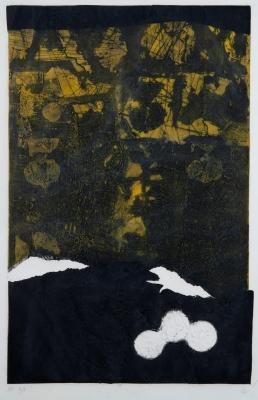 """""""Bleu et noir"""", 1968. ANTONI CLAVÉ I SANMARTÍ"""