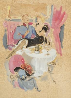 """""""Cena romántica"""", 1944. FLORIT RODERO, José Luis"""