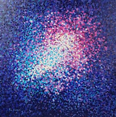"""PIA GIANNONI GRIMALDI (Chile, 1984).""""Cielo violeta""""."""