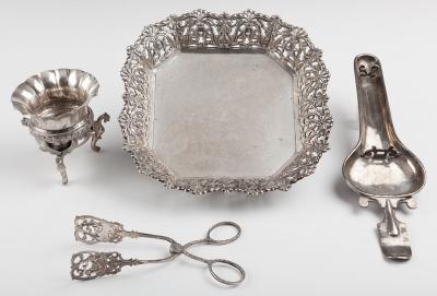 Colección de piezas de plata, finales del siglo XIX – p