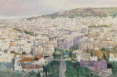 """Vista urbana"". Isidoro Lázaro Ferré"