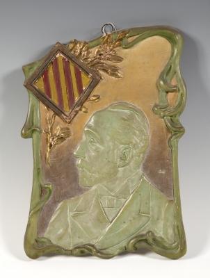 """Doctor Robert"" Plafón modernista; Cataluña, hacia 1900."