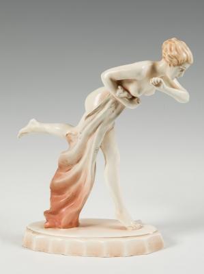 """""""Bañista"""". Escultura Art Déco, hacia 1930."""