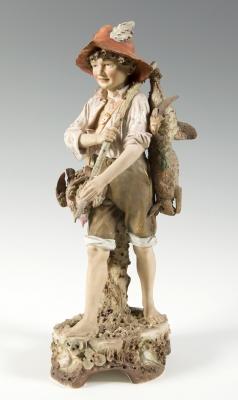 """El joven cazador"" Escultura ROYAL DUX; República Checa"
