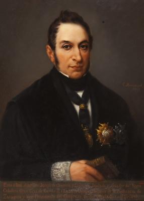 """Retrato de José de Churruca"" MONTSERRAT I JORBA, Cristòfol"