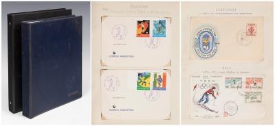 Colección de cartas internacionales de temática deportiva.