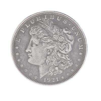 Moneda de 1 dólar tipo Morgan; Estados Unidos, 1921.