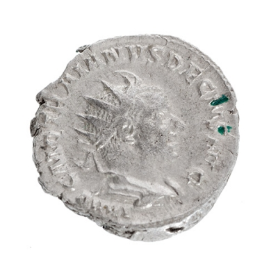 Antoniniano de Trajano Decio, 249-251. Plata