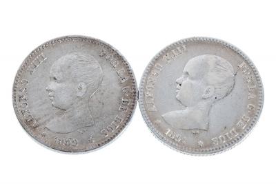 Colección completa de monedas. Peseta de Alfonso XIII