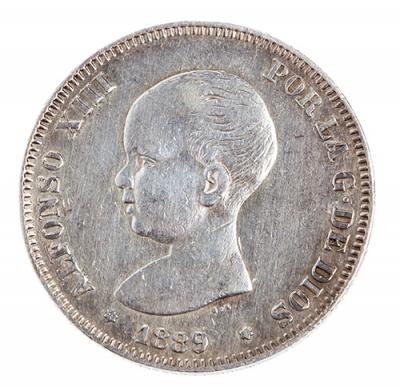Moneda de Dos Pesetas (Pesetón) de Alfonso XIII
