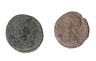 Lote de Centenional y ½ Centenional de Constancio II