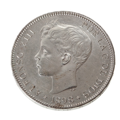 Moneda de 5 Pesetas del Rey D. Alfonso XIII