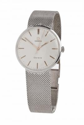 Reloj OMEGA para caballero.En oro blanco de 18 kts.
