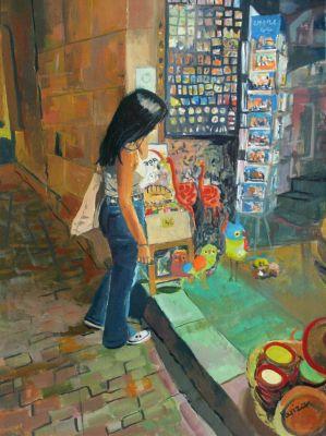 AMAYA FERNÁNDEZ FARIZA (Bilbao, 1962).Jumble sale .