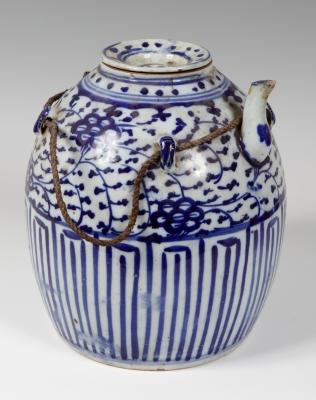 Vasija para vino; China, dinastía Qing, siglo XIX o anterior.