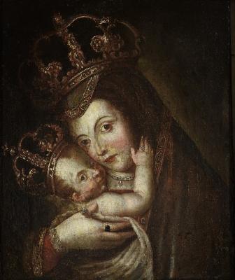 """""""Virgen de Belén"""". Escuela española, XVII."""