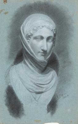 MIQUEL BLAY I FÀBREGUES (Olot, 1866 — Madrid, 1936).Study for sculptural bust.