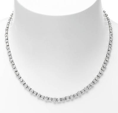 Collar rivière diamantes