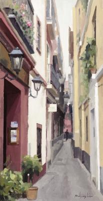 """""""Calle de Sevilla"""". RODRÍGUEZ LOBO, Francisco"""