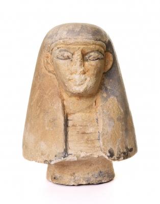Tapa, vaso canopo. Egipto, Baja Época, 664 – 332 a. C.