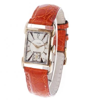Reloj JAEGER LE COULTRE en oro de 14 kts.