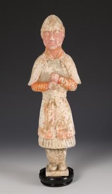Figura de guerrero; China, dinastía Tang, 618-907.