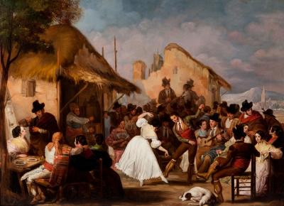 """Fiesta andaluza"" Posiblemente RODRÍGUEZ DE GUZMÁN, Manuel"