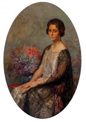 """""""Retrato de dama"""", 1925. STOLZ VICIANO, Ramón"""