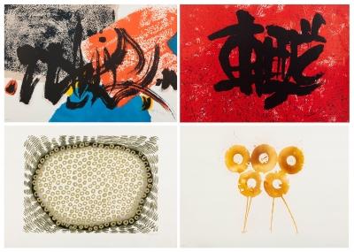 """Conjunto de cuatro litografías de la colección """"Suite O"""