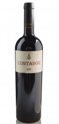 Botella de Contador 2003.Categoría: vino tinto.