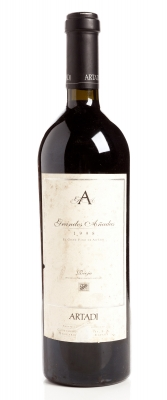 Botella de Artadi Grandes Añadas 1998.