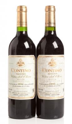Dos botellas de Contino Reserva 1995 y 1996.