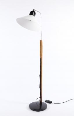 Lámpara de pie de diseño danés, segunda mitad del siglo XX.