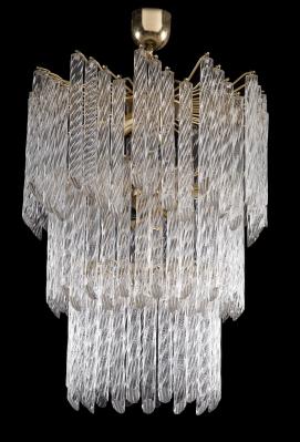 Lámpara de techo de diseño italiano, ca. 1950.