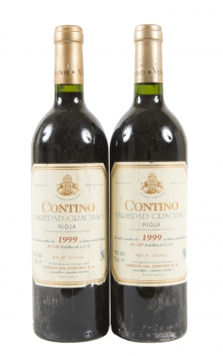 Dos botellas de Contino 1999.Categoría: vino tinto.