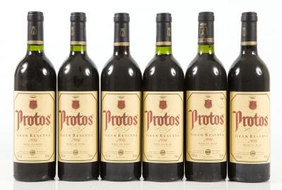 Seis botellas de Protos Gran Reserva 1996.