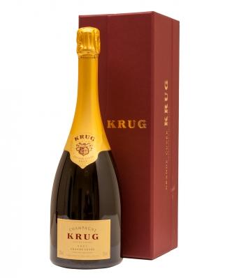 Botella de Krug Brut Grande Cuvée.