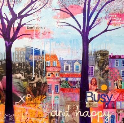 """""""Busy and happy"""". Maria Burgaz"""