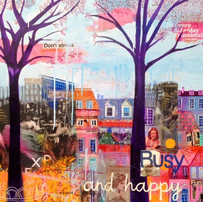 "MARIA BURGAZ (Madrid 1970).""Busy and happy""."